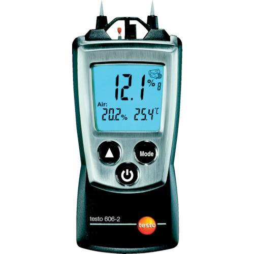 計測 測定品多数取り揃えております 日本正規品 TRテストー TESTO606-2 温湿度計測機能付 爆買いセール ポケットライン材料水分計