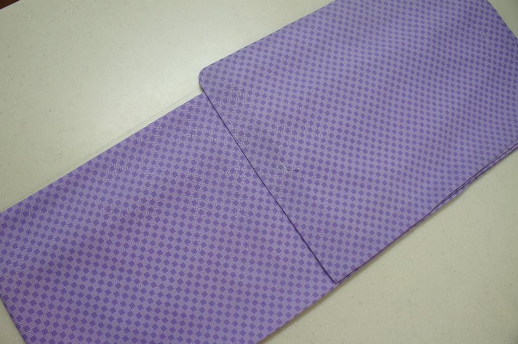 洗える着物 袷 江戸小紋 Lサイズ 通し市松柄 すみれ色