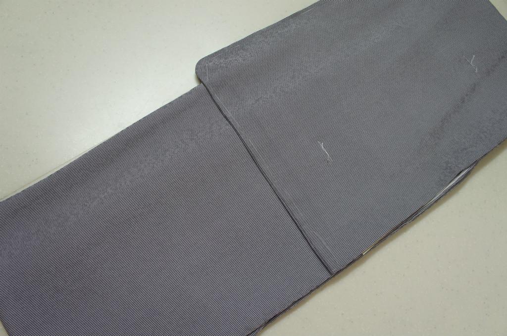 洗える着物 袷 江戸小紋 Mサイズ 万筋文様 紫苑色