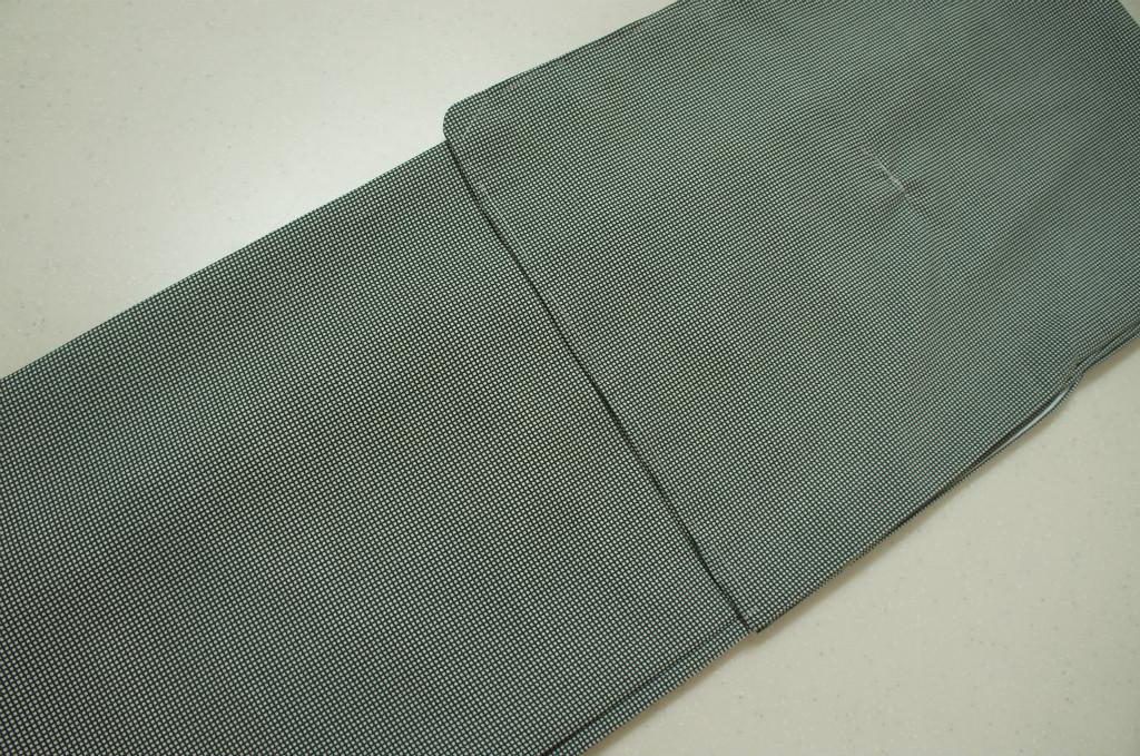 洗える着物 袷 江戸小紋 Lサイズ 通し文様 青竹色
