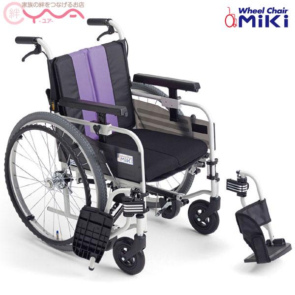 車椅子 折り畳み 【MiKi/ミキ】とまっティシリーズ MBY-41B SW [低床][自走介助兼用車椅子] [自動ブレーキ搭載] [自走式車椅子]