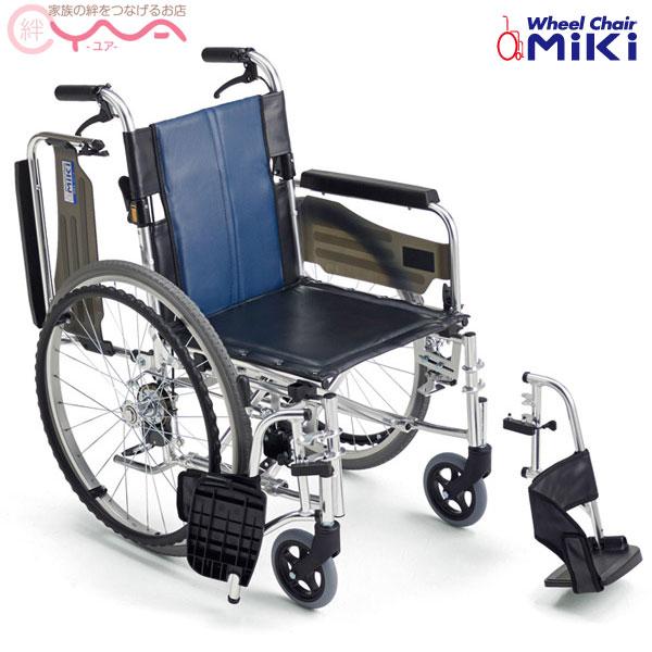 車椅子 折り畳み 【MiKi/ミキ BAL-3B】 自走介助兼用 足踏み連動式駐車ブレーキ 車いす 車イス くるまいす 介護用品 送料無料