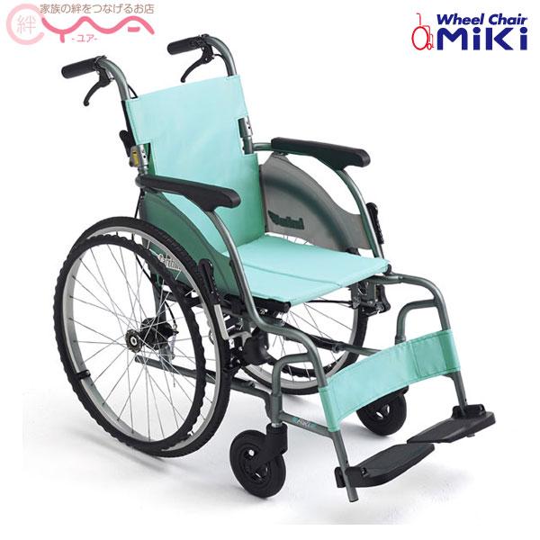 車椅子 軽量 折り畳み 【MiKi/ミキ CRT-5】 自走介助兼用 超軽量 コンパクト車椅子 ワンハンドブレーキ 車いす 車イス くるまいす 介護用品 送料無料