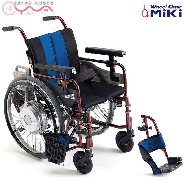 車椅子【MiKi/ミキ】電動ユニット装着車椅子JWX-2F [電動車椅子]