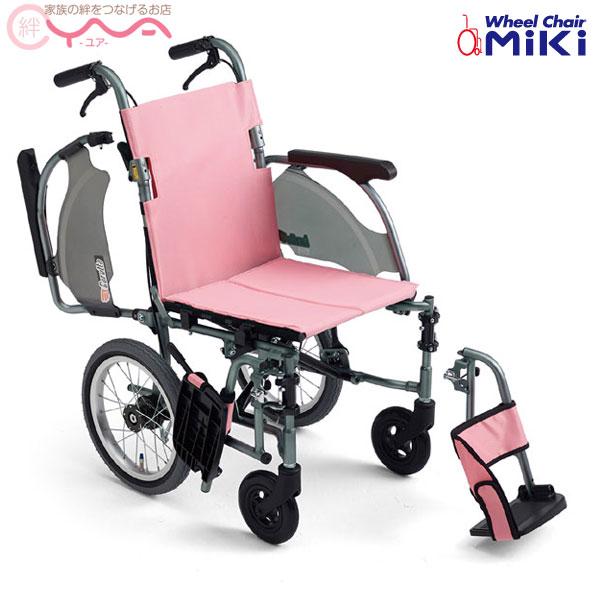 車椅子 軽量 折り畳み 【MiKi/ミキ CRT-4】 介助式 超軽量 コンパクト車椅子 多機能型 車いす 車イス くるまいす 介護用品 送料無料