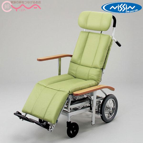 座席昇降により 移乗時などの介助者の負担を軽減する車いす リクライニング車椅子 税込 日進医療器 スチール製車いす NHR-15 介助式車椅子 座席昇降 新生活 フルリクライニング