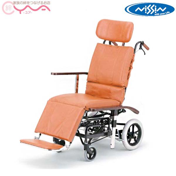 ティルトリクライニングがスムーズに行えるフリーロック機構 リクライニング車椅子 日進医療器 ティルト リクライニング 流行 NHR-7 介助式車椅子 フルリクライニング 2020A/W新作送料無料