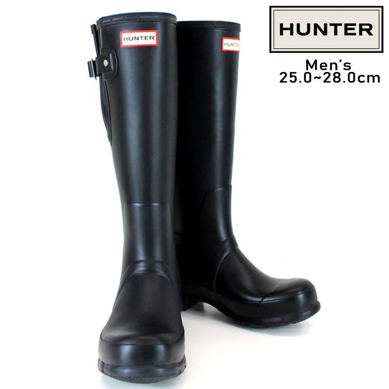 HUNTER/ハンター MEN'S ORG SIDE ADJUSTABLE オリジナル サイドアジャスタブル ブーツ メンズ 防水 耐水 ラバー