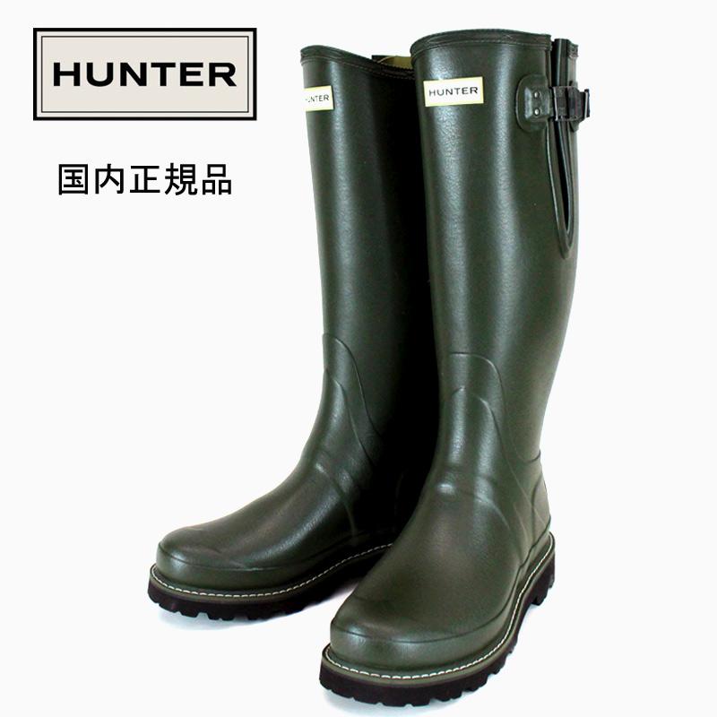 HUNTER/ハンター【メンズ】Men's Balmoral Side Adjustable Wellington Boots: Dark olive バルモラル サイドアジャスタブル ブーツ メンズ ダークオリーブ 防水 ウォータープルーフ MFT9100RPO 国内正規品