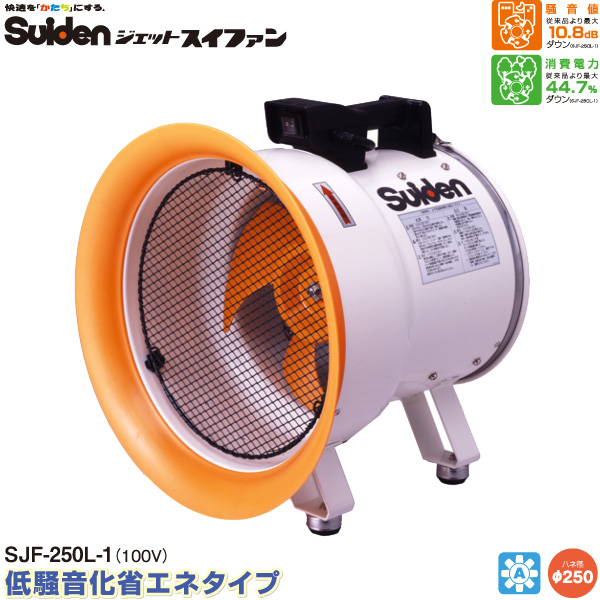 【代金引換不可】【送料無料】スイデン ジェットスイファンLシリーズ SJF-250L-1 送風機 【送風機業務用】