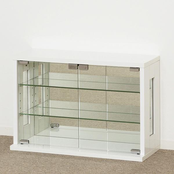 【飾り棚】 卓上コレクションケース 横型 ホワイト 【27054】【送料無料】【代金引換不可】 飾り棚 収納棚 コレクションケース クロシオ
