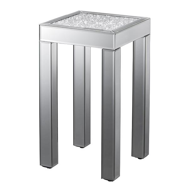 【テーブル】 ダイヤテーブル ハイ 【85013】【送料無料】【代金引換不可】 テーブル 机 ダイヤ ミラー クロシオ