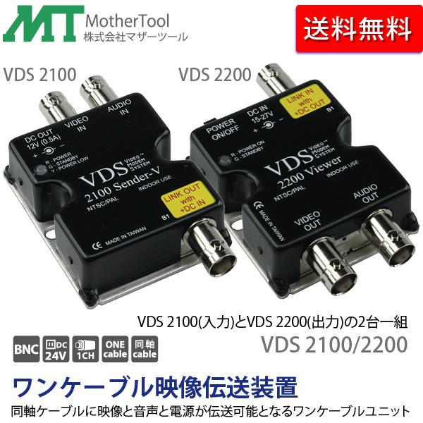ワンケーブル映像伝送装置「VDS 2100/2200」防犯カメラの配線を1本にまとめ、配線工事かんたん。