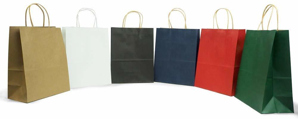 手提げ袋 期間限定送料無料 衣料 雑貨屋など幅広く利用される 最もベーシックな無地のシンプルな手提げバッグです 原紙の質感を生かしたナチュラルで落ち着いた風合いの質感が特徴です 計30枚 上質紙 大幅にプライスダウン 6色×5セット 270×110×210mm 紙袋