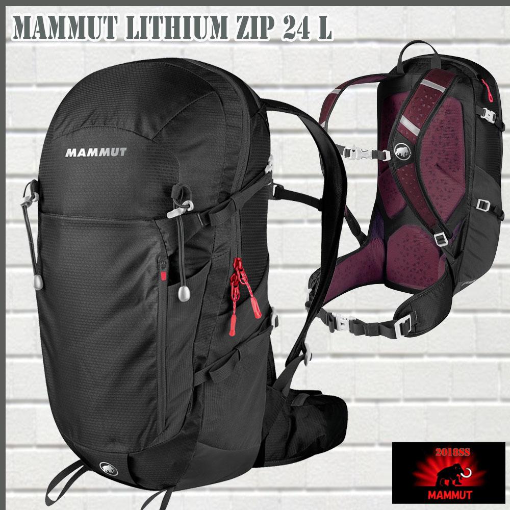 マムート(MAMMUT) Lithium Zip 24 black 24L デイパック (MAMMUT_2018FW2)
