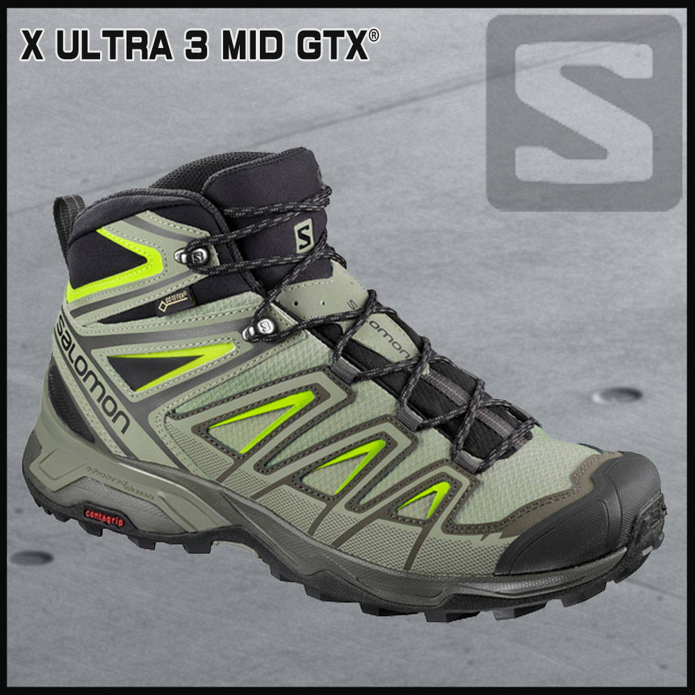 サロモン SalomonX ULTRA 3 MID GORE-TEXBELUGA/SHADOW/LIME GREEN//