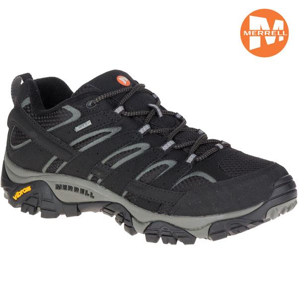 【お得♪クーポン ~10/16 9:59】/登山靴 メレル MERRELL モアブ2 MOAB 2 GORE-TEX カラー:BLACK ゴアテックス 防水 防水性 透湿性 ローカット あす楽