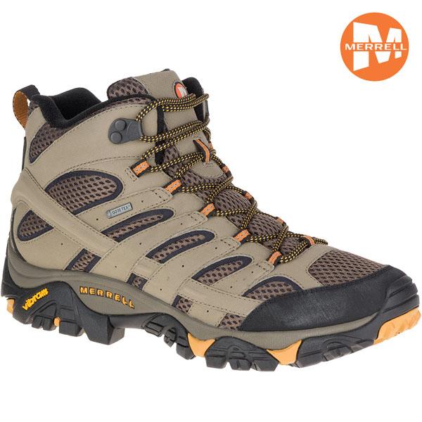 【お得♪クーポン ~10/16 9:59】/登山靴 メレル MERRELL モアブ2 ワイドモデルMOAB2 MID GORE-TEX WIDTH カラー:WALNUT ゴアテックス 防水 防水性 透湿性 あす楽