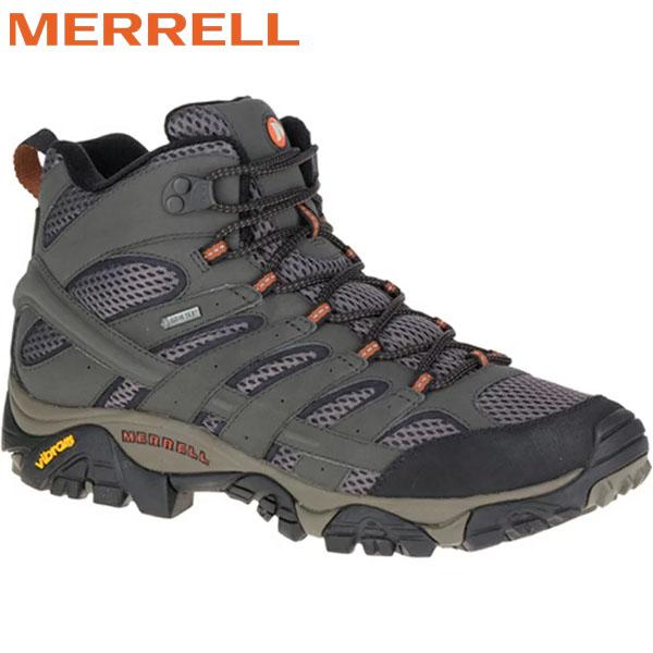 登山靴 メレル MERRELL モアブ2ミッド ゴアテックス MOAB2 MID GORE-TEX カラー:BELUGAゴアテックス 防水 防水性 透湿性 あす楽