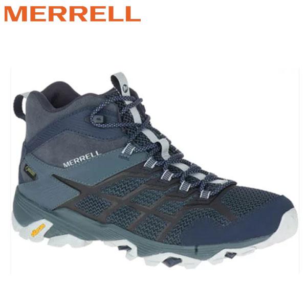 登山靴 メレル MERRELL モアブ FST2 ミッド ゴアテックス MOAB FST2 MID GORE-TEX カラー:NAVY/SLATEゴアテックス 防水 防水性 透湿性 あす楽