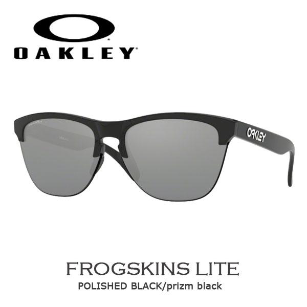 オークリー サングラス カジュアル ライフスタイル OAKLEY FROGSKINS LITE フロッグスキンズ POLISHED BLACK/prizm black oky-sun