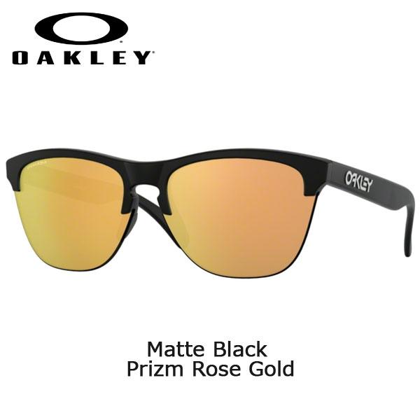 【ストアポイントアップさらにカードで・・・】/オークリー サングラス カジュアル フロッグスキン ライト OAKLEY FROGSKINS LITE Matte Black Prizm Rose Gold アパレル ファッション 普段着 oky-sun