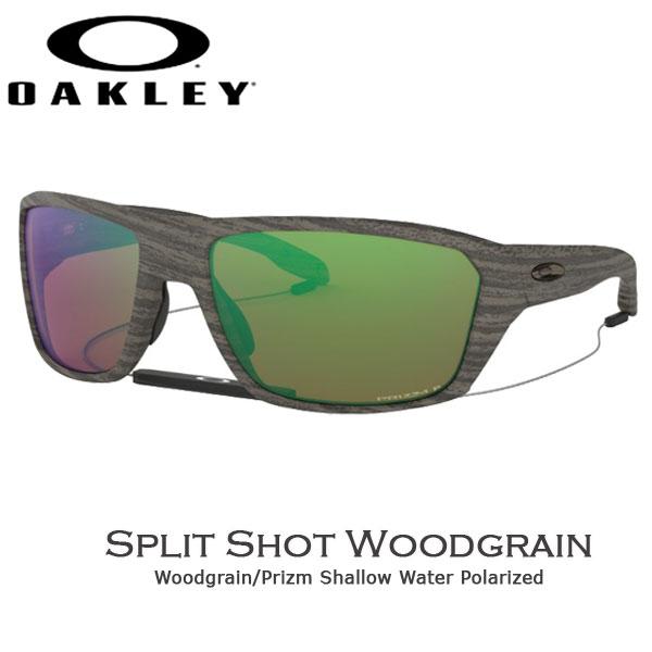 オークリー カジュアル サングラス スピリットショット OAKLEY オークリー SPLIT SHOT フレーム Woodgrain レンズ Prizm Shallow Water Polarized あす楽