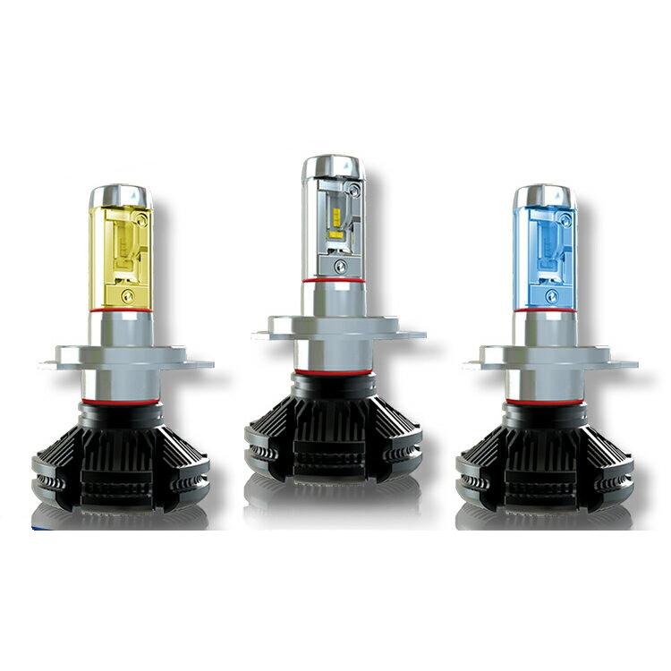 DAIHATSU 新発売 ミラ アヴィ H17.8~H18.11 L250 260系 ハイクオリティ H4 Hi Lo 2灯入り 色温度3000K 最新チップ使用 車検適合 6500K 一体型ファンレスLEDヘッドライト 高輝度6000Lm X3シリーズ 8000K再設定可能