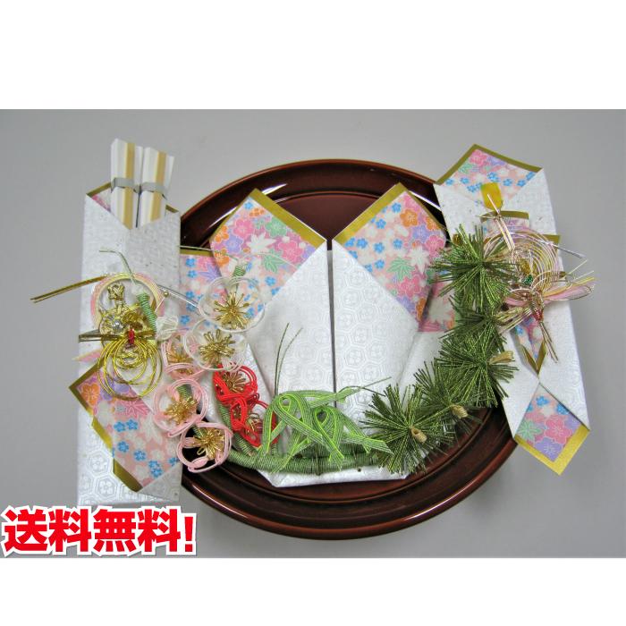 記念品セット 梓指輪飾り(赤毛氈・風呂敷付き) 送料・代筆無料