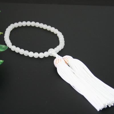 結納/結納品/結納セット☆【数珠・念珠/女性用】白瑪瑙/人間関係運