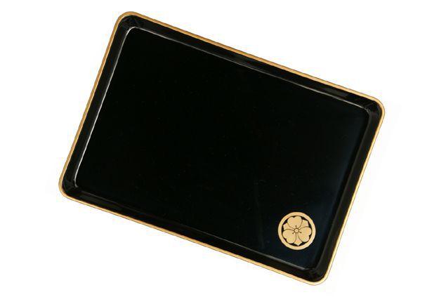 越前塗 8寸 切手盆 (金渕・磨紋入り) 正式に祝儀袋を受け渡しするために 祝儀袋 ご祝儀袋 のし袋