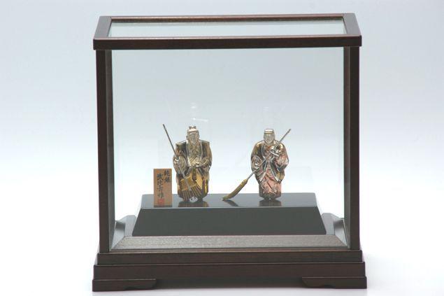 純銀製 置物 高砂 4号(背景なし) 結納品 の一品に 送料無料名入れ彫刻無料 伝統工芸士 武比古作の逸品です 結婚祝い 賀寿 長寿祝い 各種贈答用に最適ラッピング対応可・代筆無料 純銀銀製 銀製品 シルバー