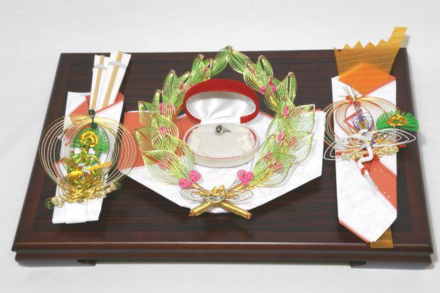 結納 略式 結納品指輪メインの結納品 きらめき指輪セット 送料無料 結納 結納セット 結納品 顔合わせ 顔合わせ食事会