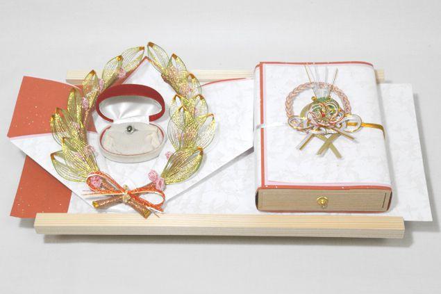 結納 略式 結納品 結納金と指輪 若葉セット 送料無料 結納 結納セット 結納品 顔合わせ 顔合わせ食事会