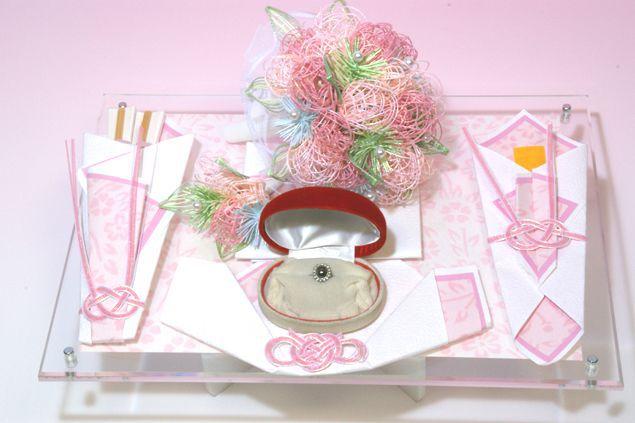 略式 結納 結納金と指輪 ブーケセット 送料無料 結納 結納セット 結納品 顔合わせ 顔合わせ食事会