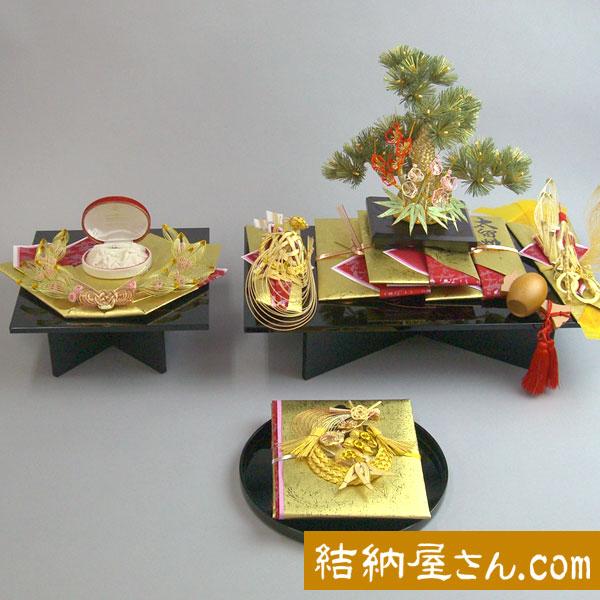 結納 -コンパクト結納品-松輝セットスタイル2【毛せん・目録付き】
