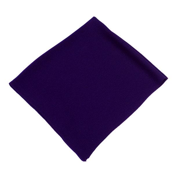 サービス品! 風呂敷(正絹)ちりめん2幅(68×68cm)《無地》【古代紫】