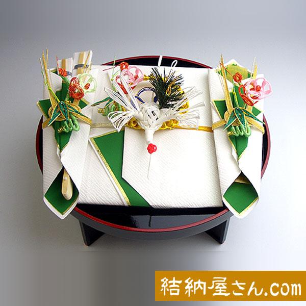 結納返し-略式結納品- 飛鶴セット(青・毛せん付)