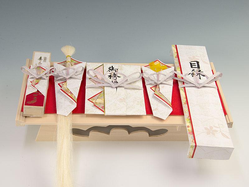 【結納返し(ご養子用)】-関東式結納品-真珠5点セット(毛せん付)