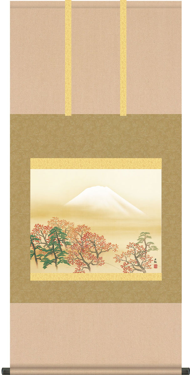 掛軸(掛け軸) 日本心神 横山大観作 尺五横 約横54.5cm×縦110cm b9153