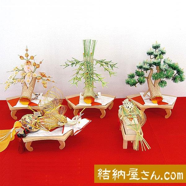 結納 -関西式結納品-ロマンスセット5点(毛せん付)