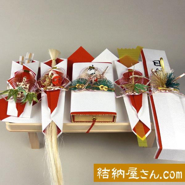 結納セット-関東式結納品-関東式羽衣5点セット(毛せん付) ・ 結納セット