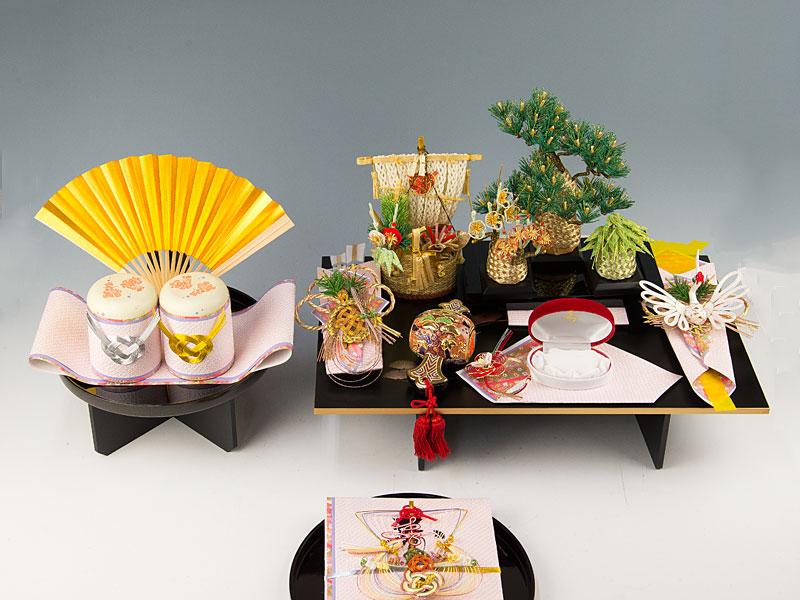 結納 -九州式結納品-宝づくしセットスタイル1【九州仕様】(毛せん付)