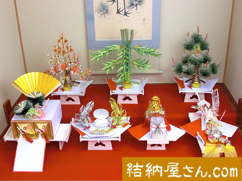 結納 -九州式結納品-木蓮7点セット(毛せん付)