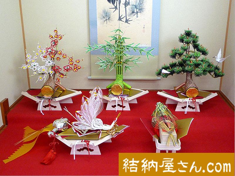 結納 -九州式結納品-太閤5点セット(毛せん付)