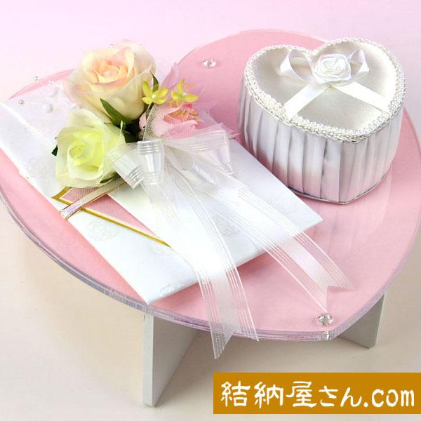 結納-略式結納品- Flora Crystal Heartセット(毛せん付)