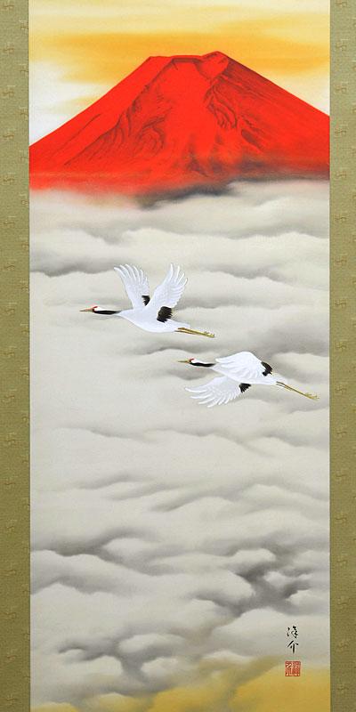 赤富士飛鶴