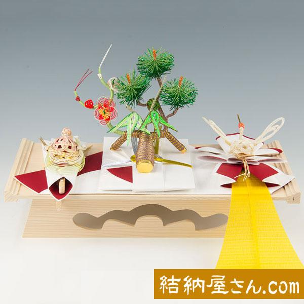 結納-略式結納品- 春日セット(毛せん付)【白木台】