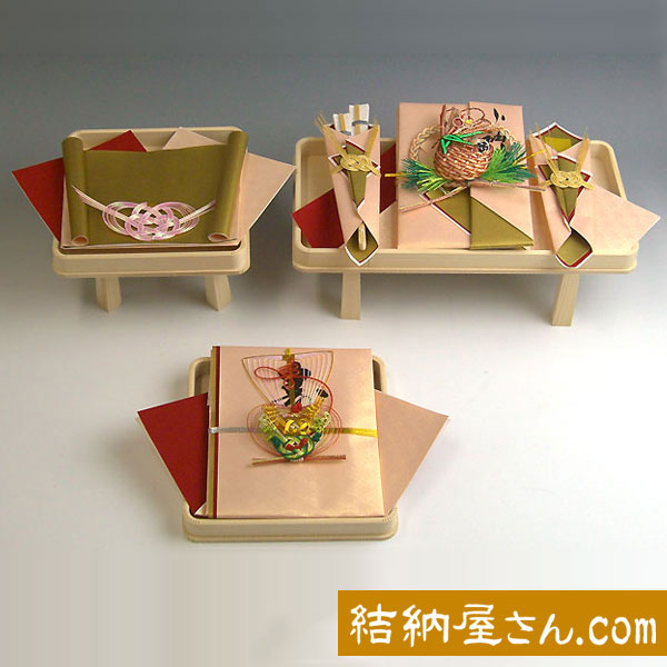 結納-略式結納品- みやびセット【台アレンジ 指輪飾り台・目録付】