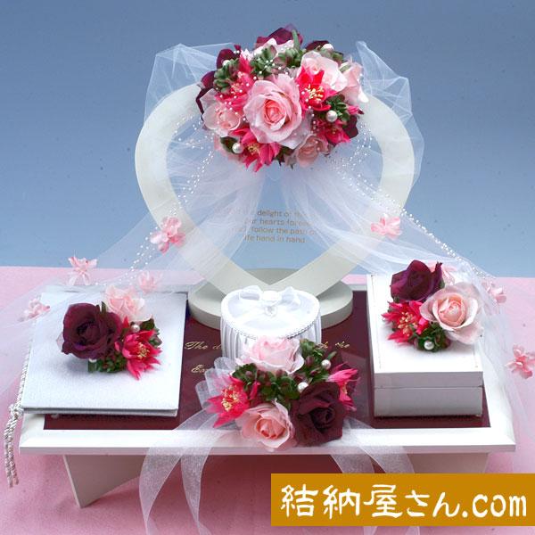 【結納フェア商品 ポイント2倍】結納-略式結納品- Flora Grace Rose セット(毛せん付)